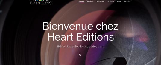 Qualisphère signe la réalisation du site de web de la jeune pousse Heart Editions !